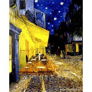 ゴッホ 「夜のカフェテラス」 原画同縮尺近似(8号)(プリハード・デジタグラ)|micbox-art-shop