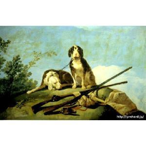 ゴヤ 「猟犬と狩猟」 原画同縮尺近似(8号)(プリハード・デジタグラ)|micbox-art-shop