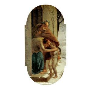 ミレー 「冬」 原画同縮尺近似(10号)(プリハード・デジタグラ)|micbox-art-shop