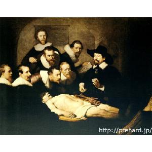 レンブラント 「トゥルプ博士の解剖学講義」 原画同縮尺近似(8号)(プリハード・デジタグラ)|micbox-art-shop