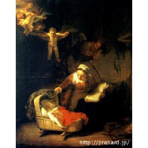 レンブラント 「天使のいる聖家族」 原画同縮尺近似(10号)(プリハード・デジタグラ)|micbox-art-shop