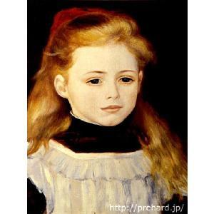 ルノアール 「白いエプロンの少女」 原画同縮尺近似 (6号)(プリハード・デジタグラ)|micbox-art-shop