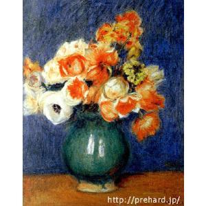 ルノアール 「青い花瓶のアネモネ」 原画同縮尺近似 (6号)(プリハード・デジタグラ)|micbox-art-shop
