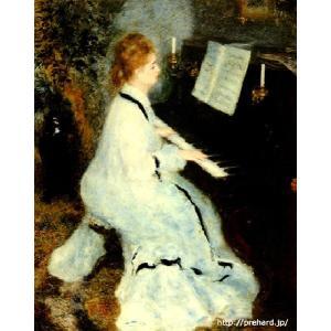 ルノアール 「ピアノを弾く若い女」 原画同縮尺近似 (10号)(プリハード・デジタグラ)|micbox-art-shop
