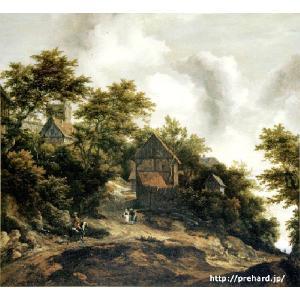 ロイスダール 「ベントハイム城の見える風景」 原画同縮尺近似(6号)(プリハード・デジタグラ)|micbox-art-shop