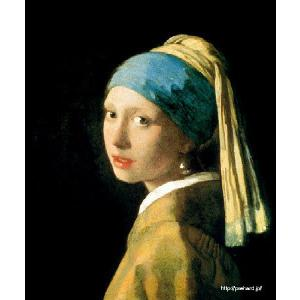 フェルメール 「青いターバンの少女」 (真珠の耳飾の少女)原画同縮尺近似 (6号)(プリハード・デジタグラ)|micbox-art-shop