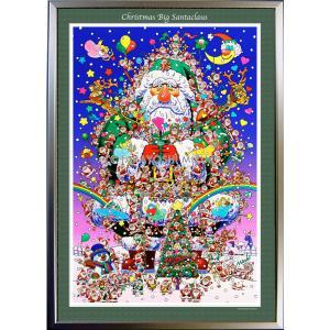 ★Xmas Big Santa・A1判(59.4×84.1cm)・額:CFフレーム ・高級キャンバスクロス・ジクレー版画|micbox-art-shop