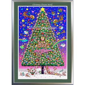 ★Xmas Dream World・B1判(72.8×103.0cm)・額:CFフレーム ・高級キャンバスクロス・ジクレー版画|micbox-art-shop
