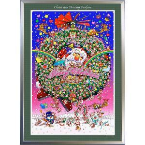 ★Xmas Dreamy Fanfare・B1判(72.8×103.0cm)・額:CFフレーム ・高級キャンバスクロス・ジクレー版画|micbox-art-shop