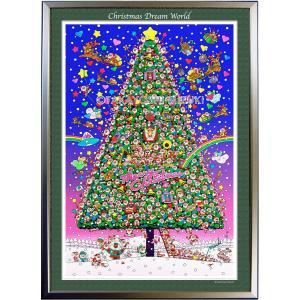 ★Xmas Dream World・B2判(51.5×72.8cm)・額:CFフレーム ・高級キャンバスクロス・ジクレー版画|micbox-art-shop
