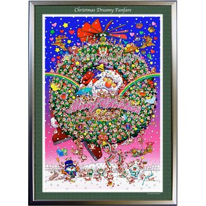 ★Xmas Dreamy Fanfare・B2判(51.5×72.8cm)・額:CFフレーム ・高級キャンバスクロス・ジクレー版画|micbox-art-shop