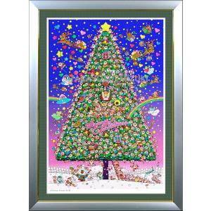 ★Xmas Dream World・B1判(72.8×103.0cm)・額:DLG(面金付)・高級キャンバスクロス・ジクレー版画|micbox-art-shop