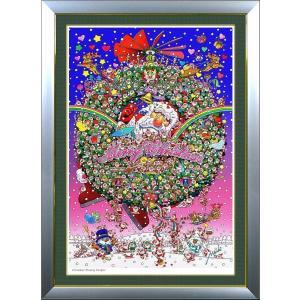 ★Xmas Dreamy Fanfare・B1判(72.8×103.0cm)・額:DLG(面金付)・高級キャンバスクロス・ジクレー版画|micbox-art-shop