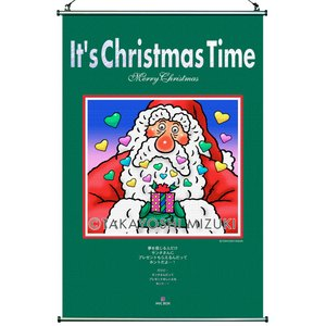 ★Xmas Time Santa Claus(45×66cm)・クロスロール(防災)・ジクレー版画|micbox-art-shop