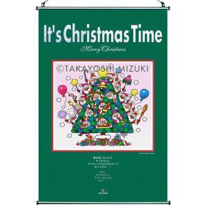 ★Xmas Time Santa Tree(45×66cm)・クロスロール(防災)・ジクレー版画|micbox-art-shop