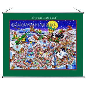 ☆クリスマス・タペストリー(Chriatmas Santa Land)60×56.5cm・ジクレー版画|micbox-art-shop