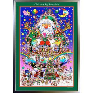 ★Xmas Big Santa Claus・A1判(59.4×84.1cm)・フレーム入り・MC画材用紙・ジクレー版画 micbox-art-shop