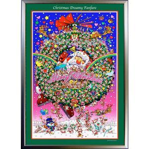 ★Xmas Dreamy Fanfare・ B2判(51.5×72.8cm)・フレーム入り・MC画材用紙・ジクレー版画 micbox-art-shop