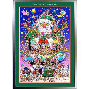 ★Xmas Big Sant Claus・B2判(51.5×72.8cm)・フレーム入り・MC画材用紙・ジクレー版画 micbox-art-shop