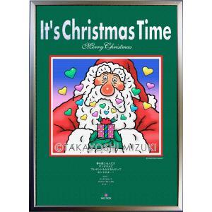 ★Xmas Time-Santa・A2判(42.0×59.4cm)・フレーム入り・MC画材用紙 micbox-art-shop