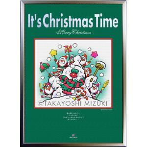 ★Xmas Time-Snowman・A2判(42.0×59.4cm)・フレーム入り・MC画材用紙・ジクレー版画 micbox-art-shop