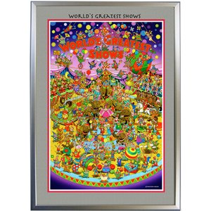 ◆Circus (サーカス)・B2判 (51.5×72.8cm)・フレーム入り・MC画材用紙・アートポスター・ジクレー版画|micbox-art-shop