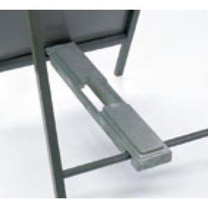 工事看板キャリー(重し台) 「鋳物タイプ」 横550mmx縦1400mm看板用 (SL CR-10M) 1個 michi-net