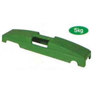 バリケード用鋳物ウェート 5kg 115mmx495mmx80mm I-206 1個|michi-net