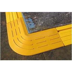 【コーナー専用】敷鉄板用段差スロープ (2枚/組)コーナー用|michi-net