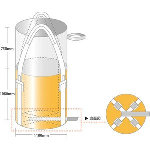 フレコンバック 1t 丸型 CB-002A 10枚/梱包|michi-net