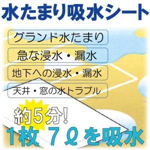 水トラブルに! 水たまり吸水シート 7L 100枚(10枚x10袋)/箱 1箱|michi-net