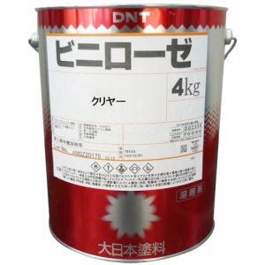 大日本塗料 塩化ビニル樹脂塗料「ビニローゼ(クリアー)」 4kg 1缶|michi-net