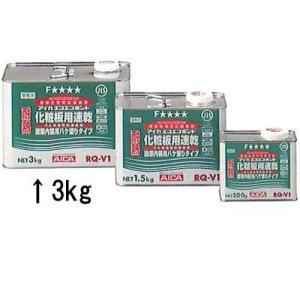 アイカ エコエコボンド 一般木工用「耐熱ハケ用」 (RQ-V1)3kg 6缶/箱|michi-net