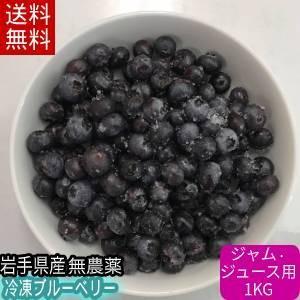 【送料無料】冷凍ブルーベリー1kg(ジャム・ジュース用)/岩手県遠野産、農薬不使用|michinoku-farm