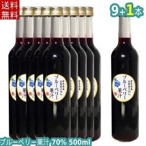 【送料無料】70%ブルーベリー飲料(500ml×9本+1本)/岩手県遠野産ブルーベリー使用|michinoku-farm