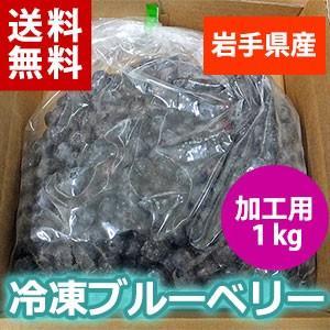 冷凍ブルーベリー1kg(加工用)/岩手県産、送料無料