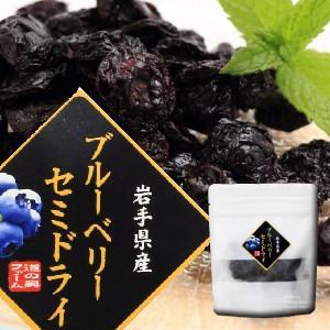 ブルーベリーセミドライ(20g)/岩手県遠野産ブルーベリーをそのまま半乾燥!|michinoku-farm