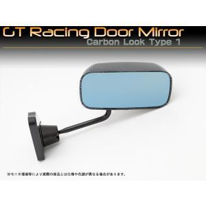 汎用 GTレーシングドアミラー カーボンルック タイプ1|mick