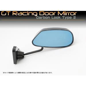 汎用 GTレーシングドアミラー カーボンルック タイプ2|mick