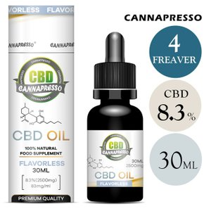 CBDオイル CBD 含有率 8.3% 2500mg 内容量 30ml カンナプレッソ MCT オイル cbd oil ヘンプ 高純度 cbd oil cbd リキッド カンナビジオール micks00