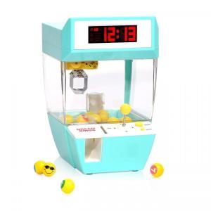 卓上UFOキャッチャー型電子目覚まし時計 ミニ家庭用クレーンゲー パーティーゲーム 電動おもちゃ 搭載背景音楽 自宅で楽しめる|micomema