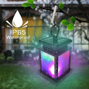 Derlights ソーラーライト RGB LEDライト カラフル きらきら 太陽能充電 屋外ライト ランタン型 多色変化 イルミネーション micomema