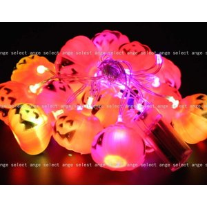 ange select ハロウィン かぼちゃ 幽霊 ドクロ 電池式 ランタン 点灯 イルミネーション ライト (かぼちゃ)|micomema