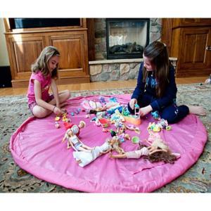 Dazers おもちゃ収納バッグ 子どもプレイマット お片付け簡単 特大マット 直径150cm (ブルー)|micomema