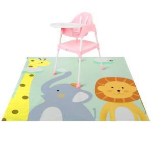 Zicac お食事マット 食べこぼしマット 滑り止め テーブルマット プレイマット 2色選択可 可愛い 130x130cm (動物3)|micomema