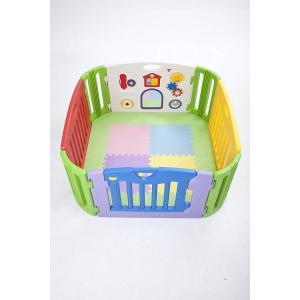 日本育児 プレイマット ミュージカルキッズランド スクエア 専用マット 6ヶ月~3歳半対象 ミュージカルキッズランドスクエアの型崩れを防ぐマ|micomema