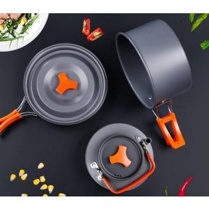 キャンプクッカー クッカーセット アルミクッカー アウトドア調理器具セット 登山用鍋 2-3人に適応 BBQ食器 ポータブル キャンピング鍋|micomema