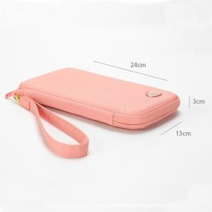 Surblue パスポートケース パスポート収納 パスポートバッグ ピンク カードケース 通帳 カード入れ スマホ収納 スキミング防止 カバ|micomema