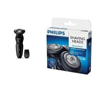 セット販売フィリップス 5000シリーズ メンズ 電気シェーバー 27枚刃 回転式 お風呂剃り &a...
