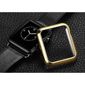 Apple Watch 42mm ゴールドTPU ソフトケース micomema